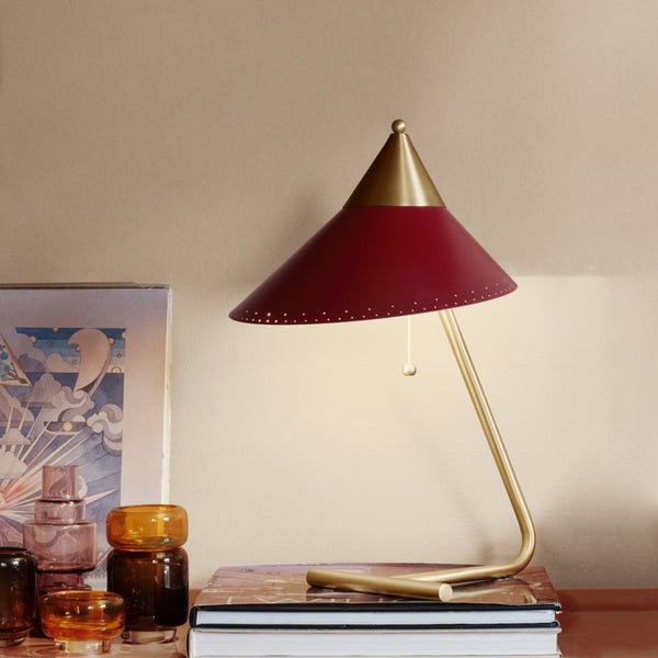 Brass Top Table Lamp Red Grape
