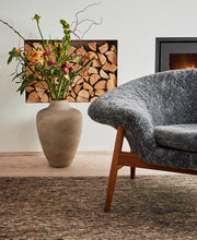 Load image into Gallery viewer, Fried Egg Lounge Chair Grey Sheepskin