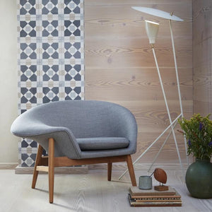 Fried Egg Lounge Chair Grey Melange