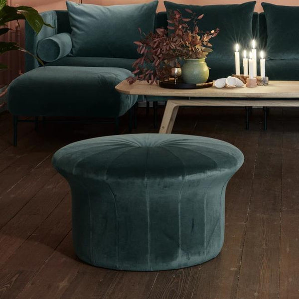 Grace Pouffe Forest Green