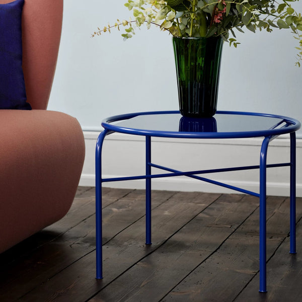 Secant Circle Coffee Table Cobalt Blue
