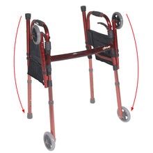 "Load image into Gallery viewer, Deluxe Folding Travel Walker with 5"" Wheels"