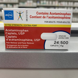 Atoma Acetaminophen Extra Strength 500mg