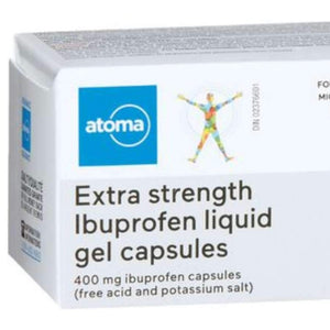 Atoma Extra Strength Ibuprofen Liquid Gel Capsules 400mg