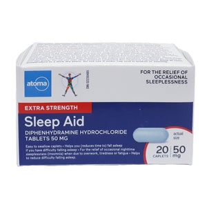 Atoma Sleep Aid Extra Strength 50mg 20 Caplets