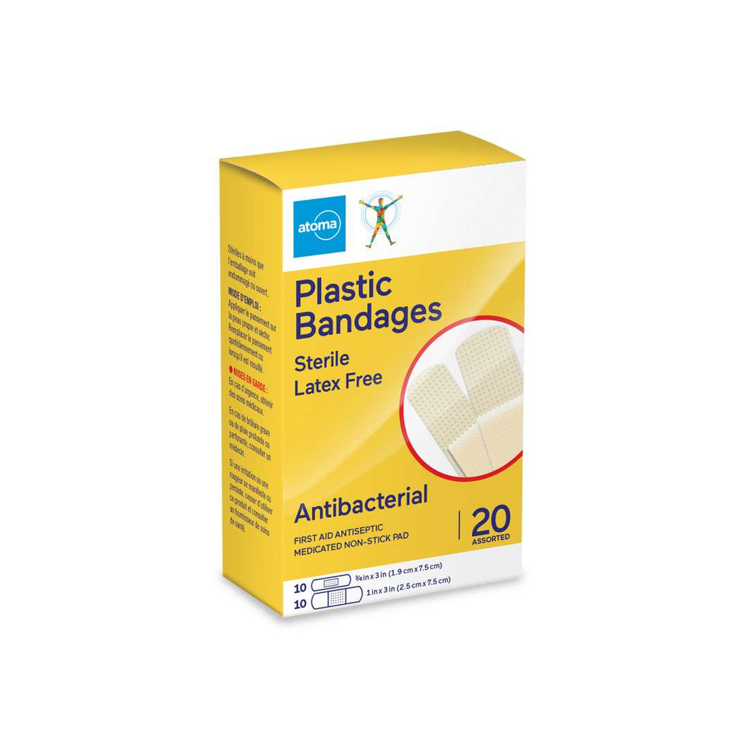 Atoma Plastic Bandages Antibacterial 20 Assorted