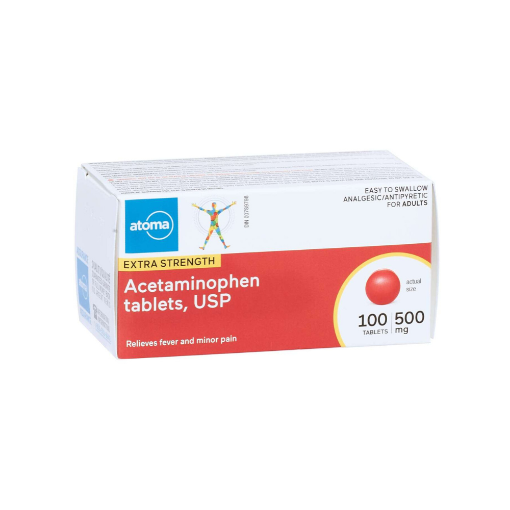 Atoma Acetaminophen 500 mg Extra Strength Tablets (Easy Swallow)