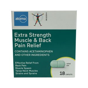 Atoma Extra Strength Muscle & Back Pain Relief Caplets