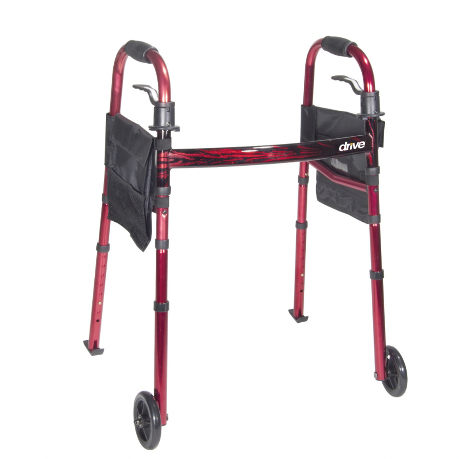 Deluxe Folding Travel Walker with 5
