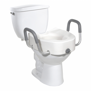 Drive Medical Premium Plastic, Raised, Elongated Toilet Seat with Lock