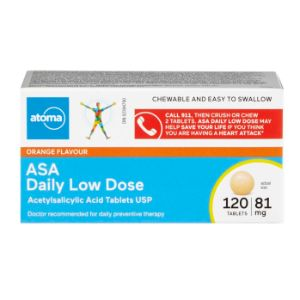 Atoma ASA 81 mg Chewable Tablets (Orange)
