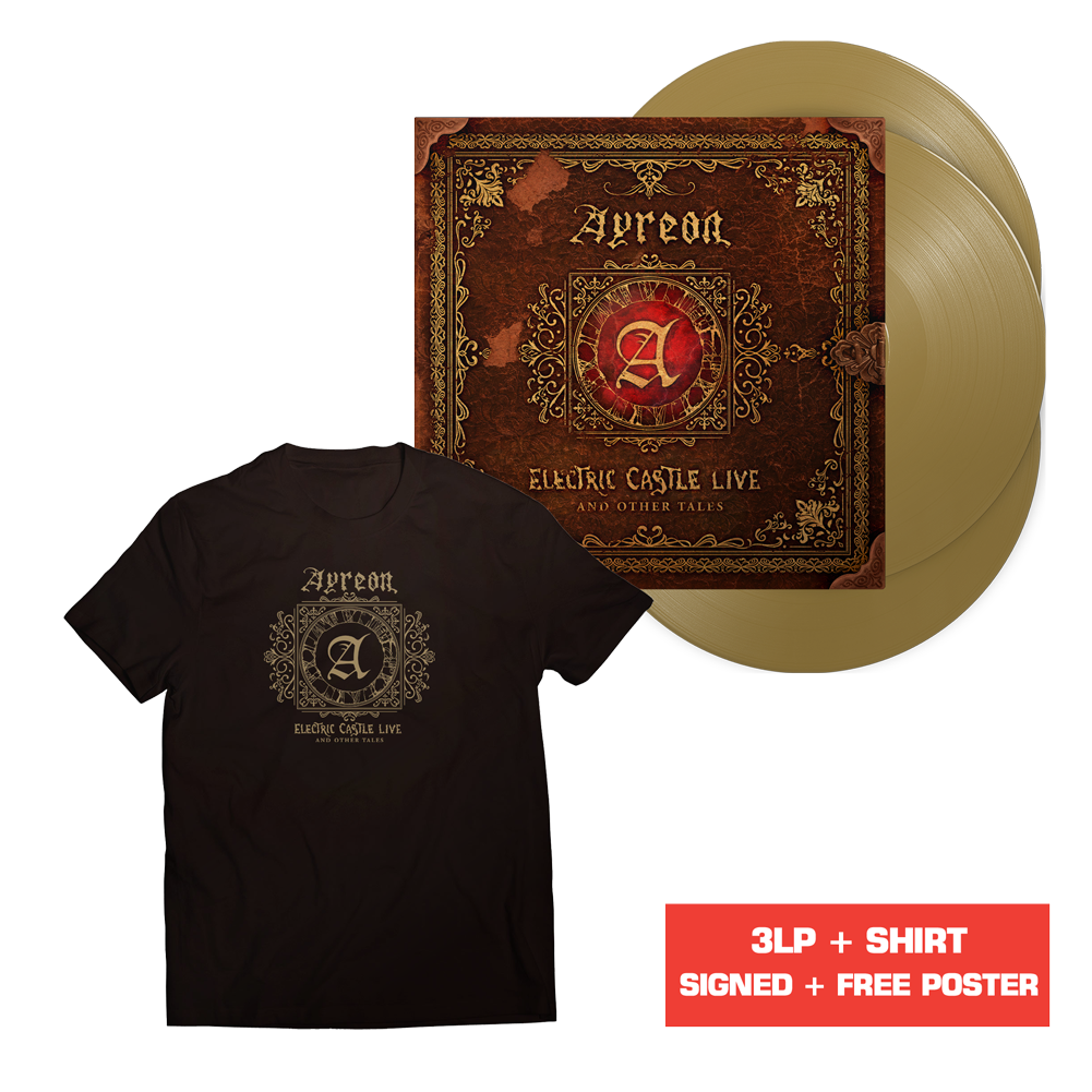 Ayreon - Electric Castle Live And Other Tales (Gold Vinyl + Poster + T-Shirt)