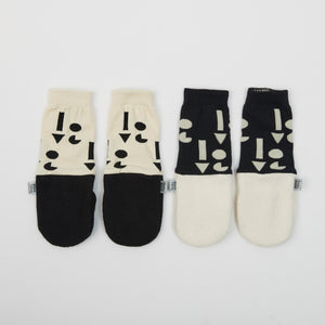 UPCYCLE COLLECTION MITTENS - CREAM with BLACK SLEEVE