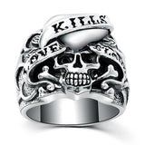 Love Kills Skull Ring