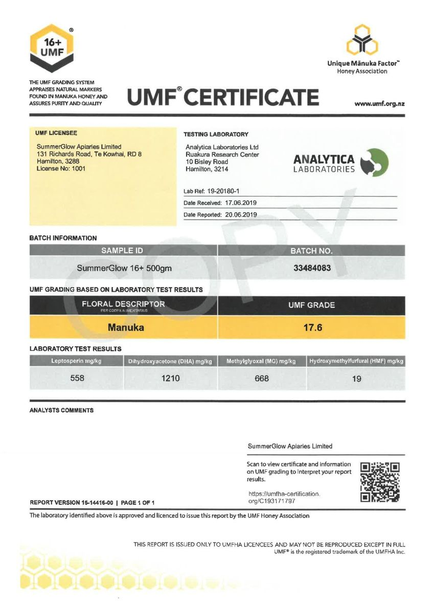 The Official UMF Release Certificate