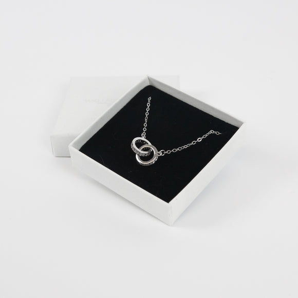 Cubic Zirconia Eternity Necklace