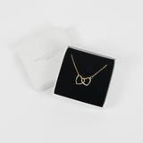 Interlocking Heart Necklace - Gold
