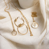 Katie Disc Necklace - Gold