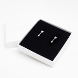Arrow Stud Earrings - Silver