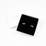 Rainbow Stud Earrings - Sterling Silver