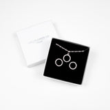 Circle Necklace & Earrings Gift set - Sterling Silver