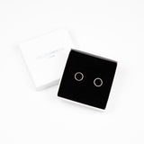 Circle Stud Earrings - Sterling Silver