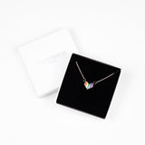 Rainbow Heart Necklace - Silver