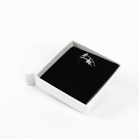 Double Flower Ring - Silver