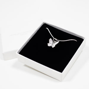 Butterfly Charm Necklace  - Silver