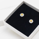 Daisy Stud Earrings - Sterling Silver