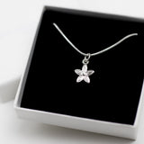 Flower Charm Necklace - Sterling Silver