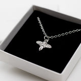 Bee Charm Necklace on Rolo Chain - Sterling Silver