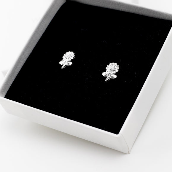 Sunflower Stud Earrings - Sterling Silver