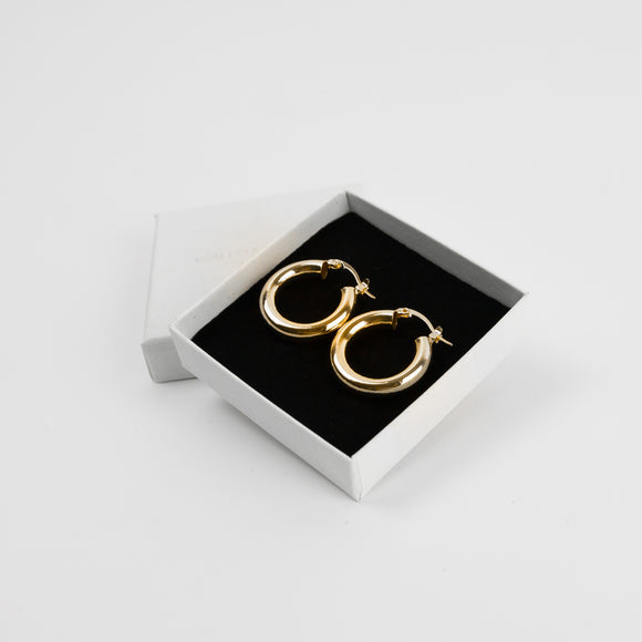 Small Chunky Hoops - Gold