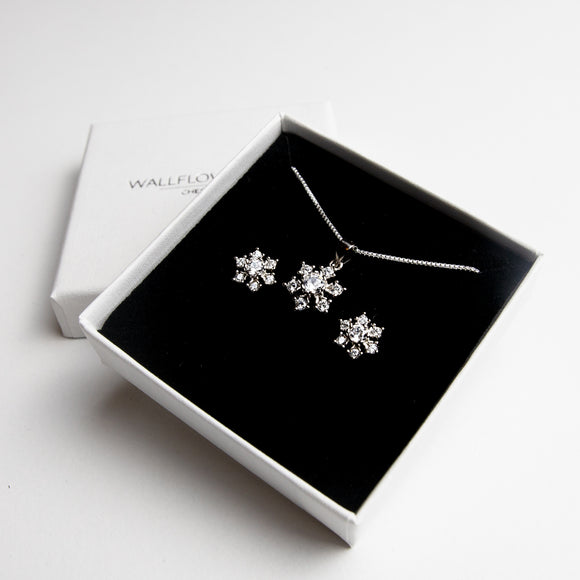Glitzy Snowflake Gift Set - Sterling silver