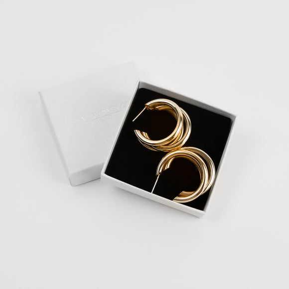 Sienna Triple Hoops - Gold