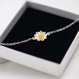Daisy Bracelet Adjustable - Sterling Silver