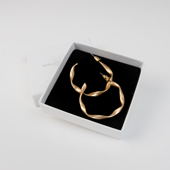 Lottie Twisted Hoops - Gold