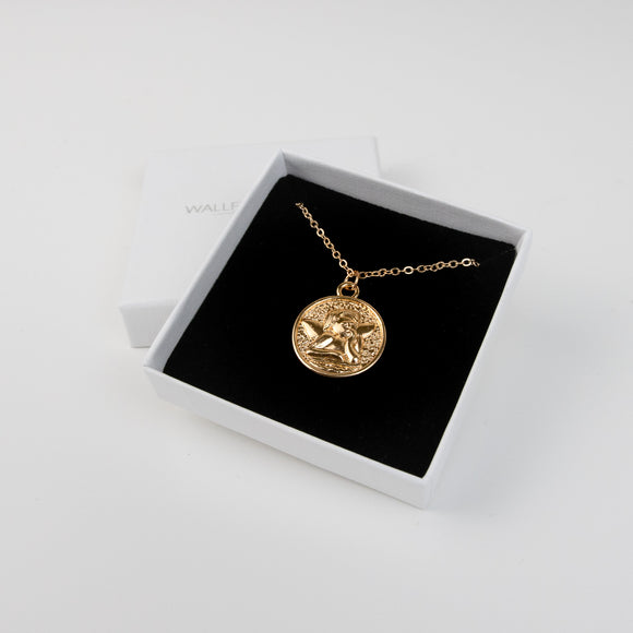 Laila Disc Necklace - Gold