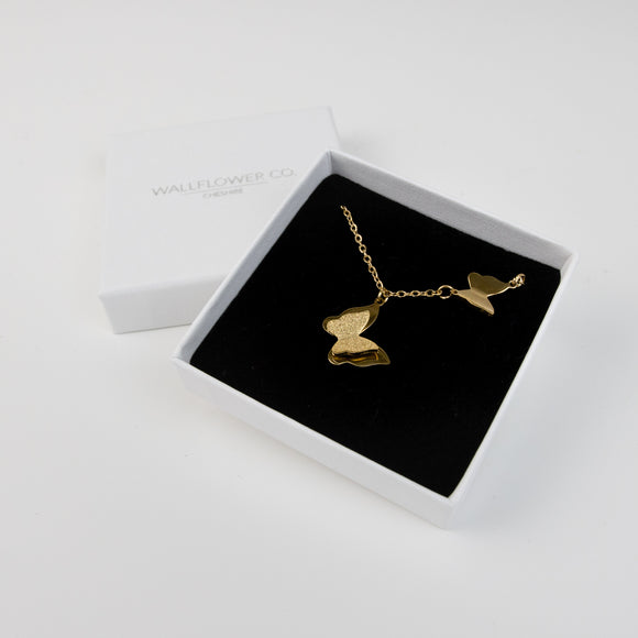 Paloma Butterfly Necklace - Gold