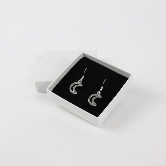 Moon Drop Earrings - Silver