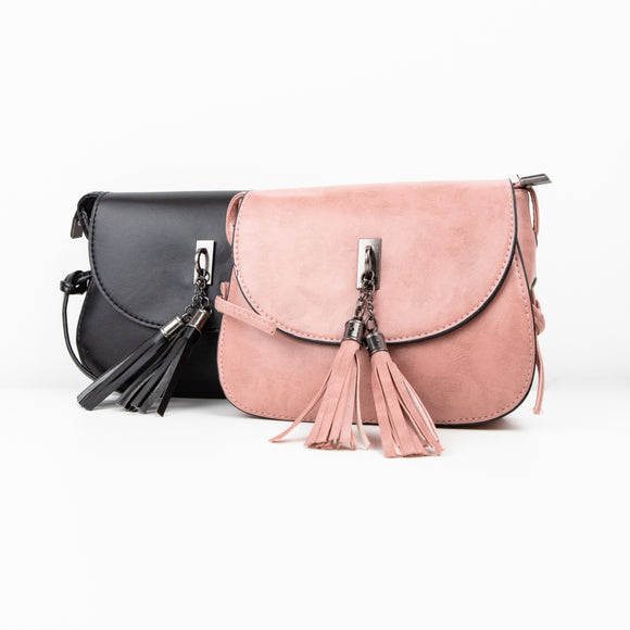 Tassel Detail Cross Body Handbag