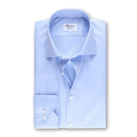 Light Blue Fitted Body Shirt, Twofold Stretch