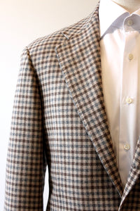 Ring Tan Gingham Sport Coat