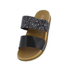 1101 BLACK WOMEN'S SANDAL - Wholesale Fashion Shoes