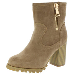 160164 BEIGE WOMEN'S BOOT - Wholesale Fashion Shoes