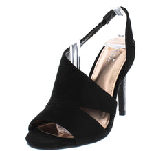 160774 BLACK WOMEN'S HEEL - Wholesale Fashion Shoes
