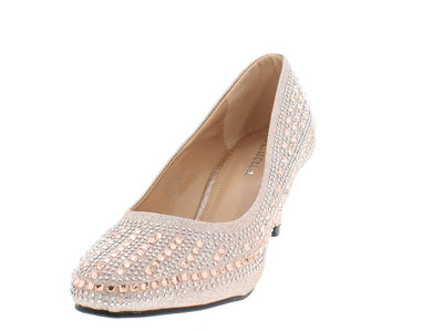 Riley263 Champagne Woman's Heel - Wholesale Fashion Shoes