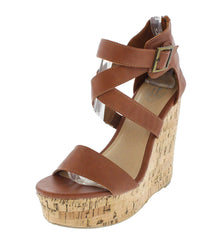 17603 TAN WEDGE - Wholesale Fashion Shoes