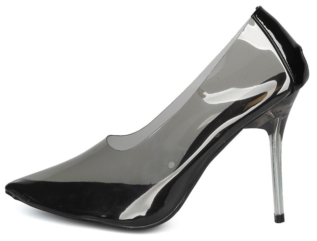 d7b23bf48cb ... Julian289 Black Clear Lucite Pointed Toe Stiletto Heel - Wholesale  Fashion Shoes